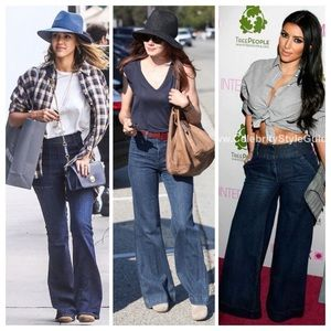 GAP trouser-like wide leg flattering jeans